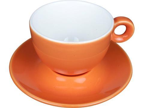 Cappuccino koffiekopje met ondertasje 20 cl