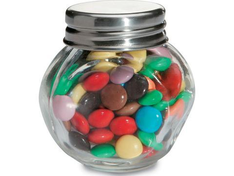 Chocolade in glazen potje
