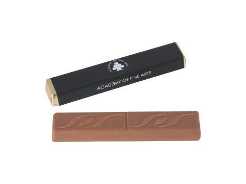 Bâton de chocolat fourré au caramel