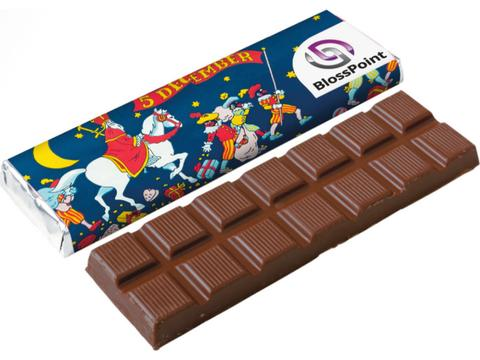 Chocolate bar with recycled wrapper