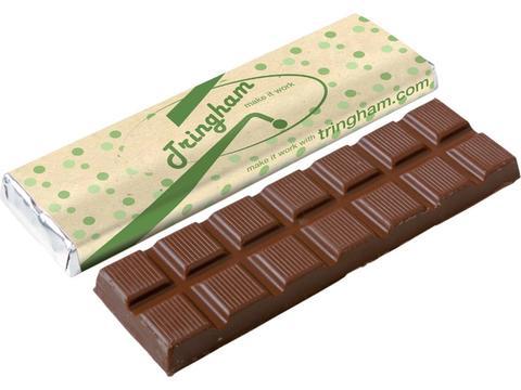 Chocoladereep met recycled papier