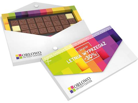 Choco text in enveloppe - 24 chocolates