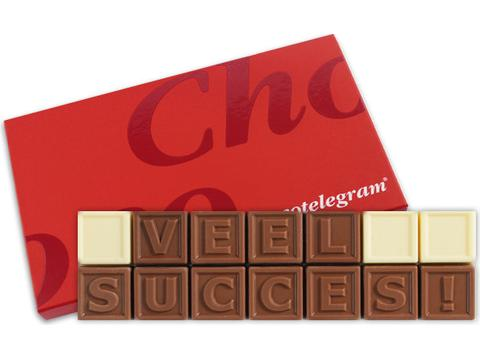 Chocotelegram 14 chocolade letters