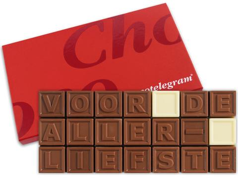 Chocotelegram 21 chocolade letters