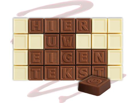 Chocotelegram 28 chocolade letters