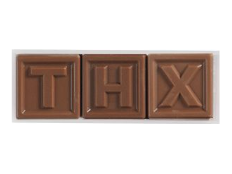 Chocotelegram 3 chocolade letters