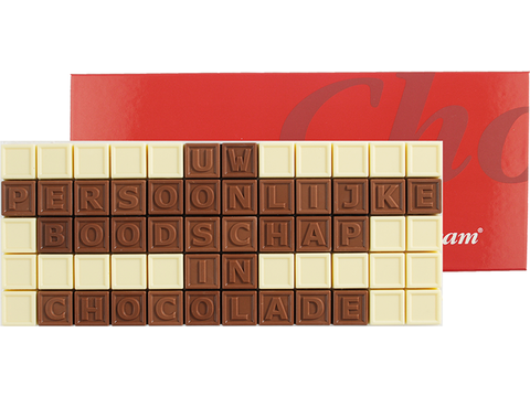 Chocotelegram 60 chocolade letters