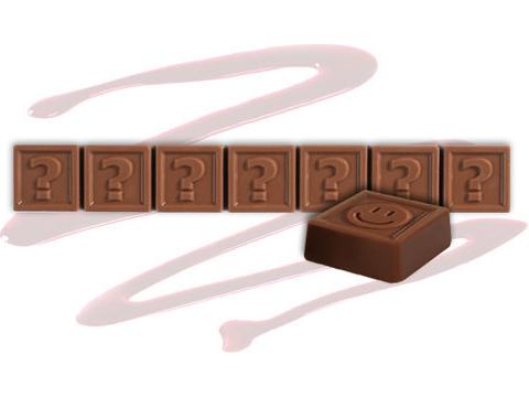 Chocotelegram 7 chocolade letters