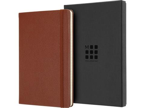 Classic L leather notebook - ruled
