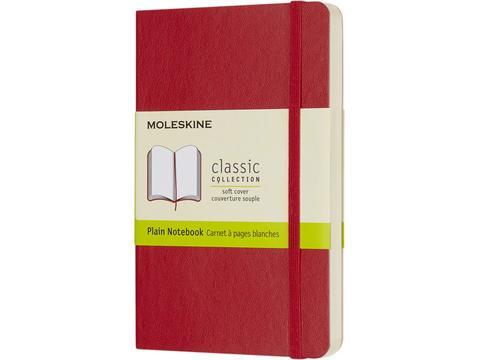 Classic Moleskine soft cover notitieboek met effen papier