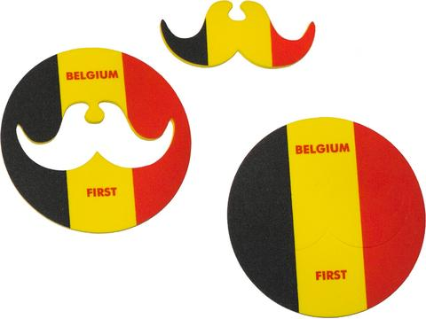 Coaster with moustache