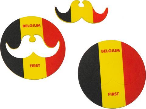 Coaster met Moustache voor supporters