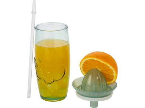 Verano recycled glass cocktail cup with squeezer
