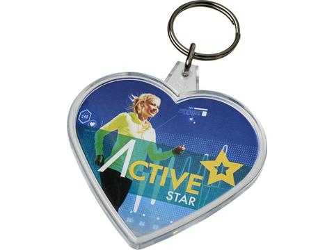Combo heart shaped keychain