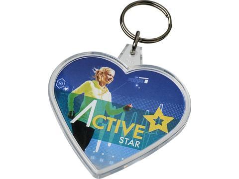 Combo heart shaped keychain