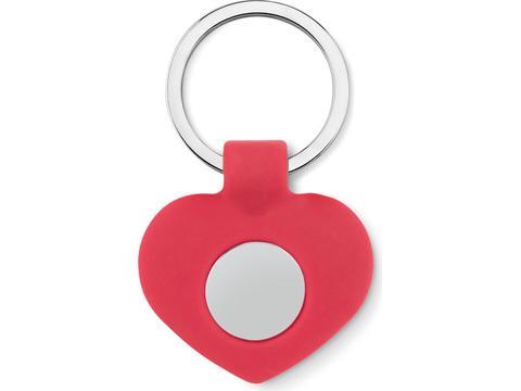 Cuore heart shaped key ring