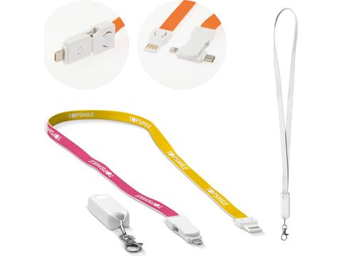 Custom Made Keycord charging cable 3-in-1