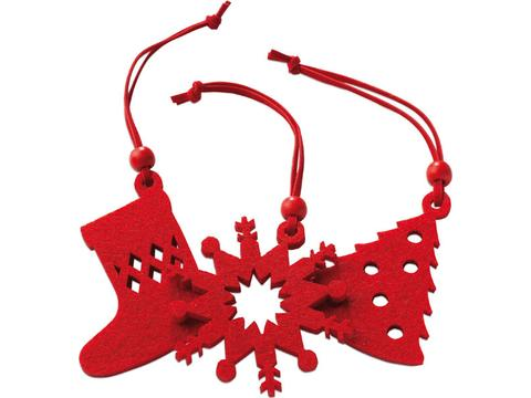 12 pieces Xmas felt hanger