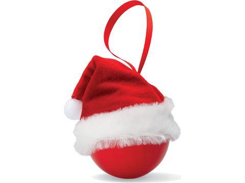 Boule de Noël avec bonnet de Père Noël