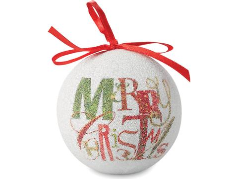 Christmas bauble pearl finish