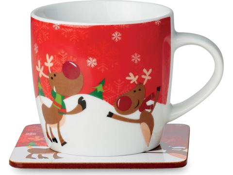 Keramische kerstmok - 300 ml