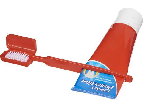 Dana tandenborstel met tandpasta pusher