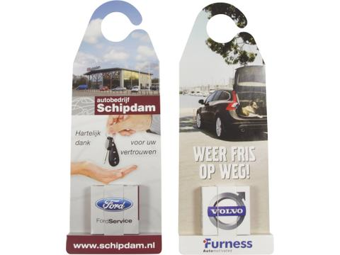 Hangcard or car mirror hanger with mints