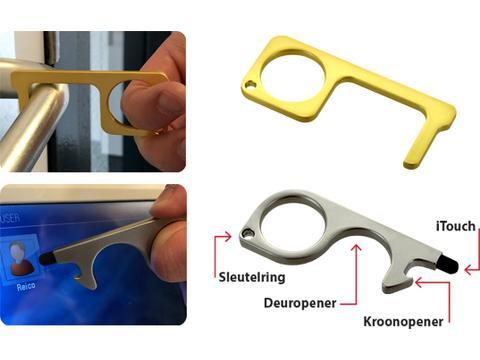 Deuropener Coronakey met iTouch stylus