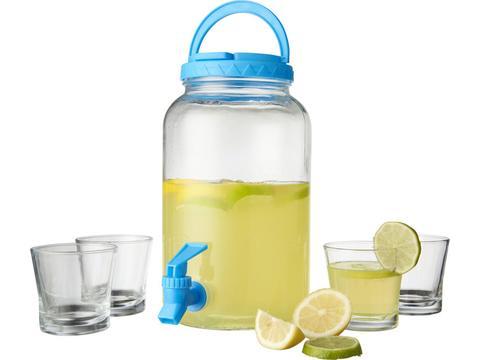 Dispenser set met 4 glazen - 3 Liter