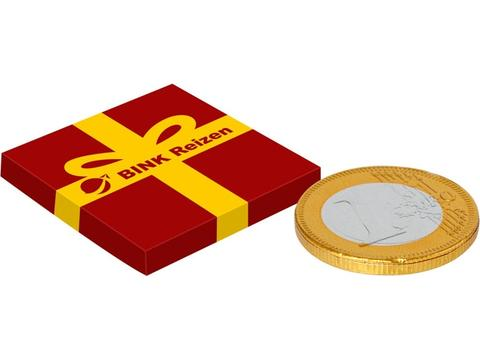 Little box with chocolate coin
