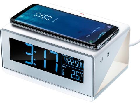 Wireless charger with alarm clock