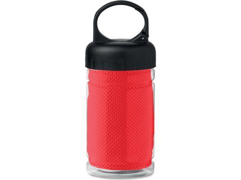 Drinkfles met verkoelende sporthanddoek - 300 ml