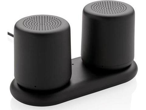 Double enceinte à charge sans fil