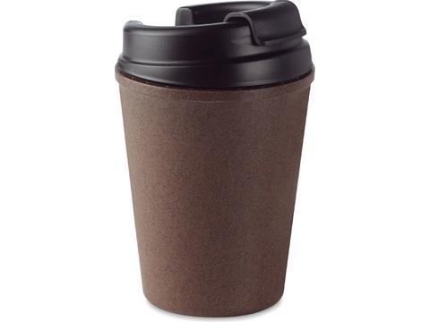 Double walled mug made of coffee husk