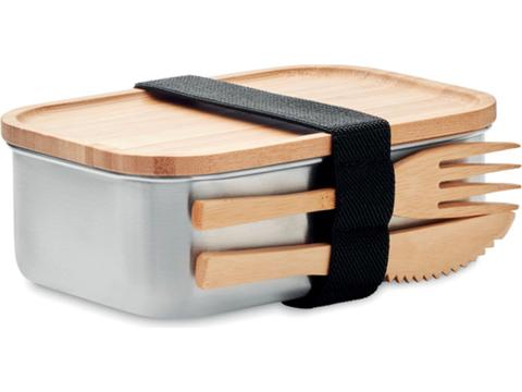 Stainless Steel lunchbox with bamboo