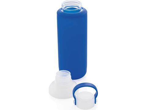 Bouteille d'eau en verre avec manche en silicone - 500 ml