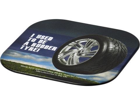 Sous-verre carré Brite-Mat® avec matériau pneu