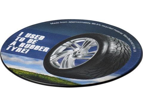 Sous-verre rond Brite-Mat® avec matériau pneu