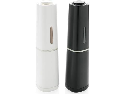 Gravity electric salt and pepper mill set