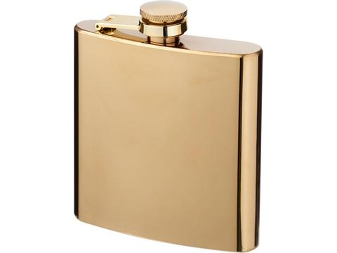Elixer 175 ml gold hip flask
