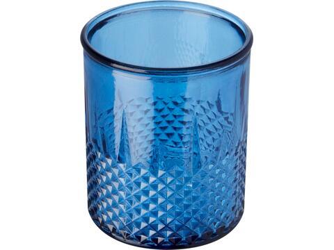 Estrel theelichthouder van gerecycled glas