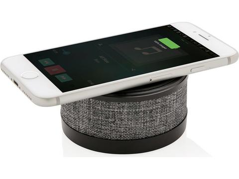 Fabric wireless charger with speaker