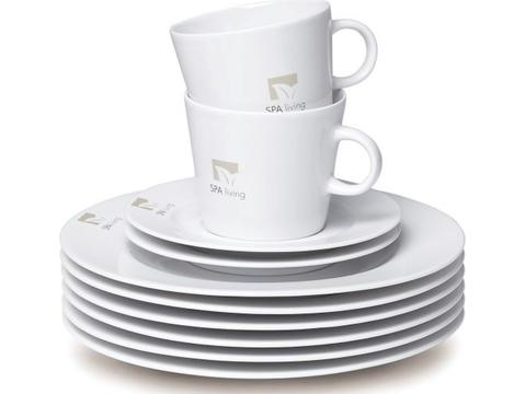 Fancy Start Up - Service 74 pièces en porcelaine