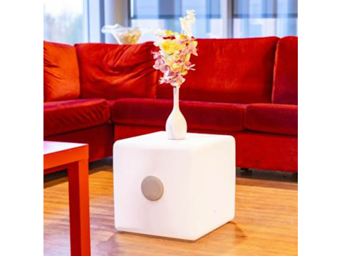 LED cube with double speaker