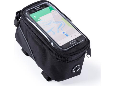 Fietstas met touchscreen vak voor smartphone