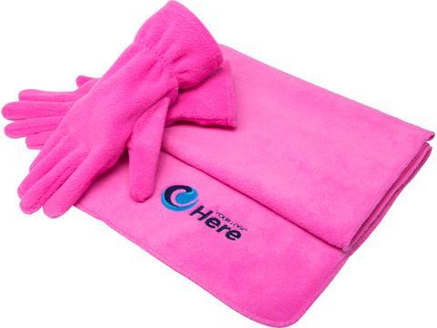 Fleece sjaal & handschoenen
