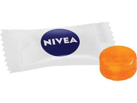 Flowpack suikervrij fruitsnoepje - 2 kleuren - per kilogram