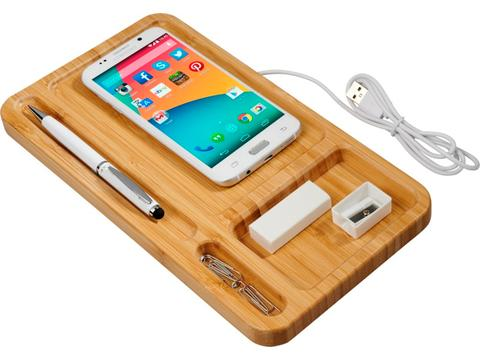 Frame wireless charging desk organizer