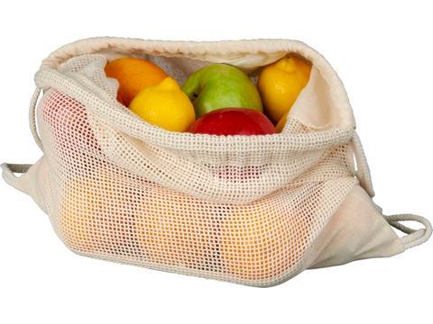 Fruit- en groenten rugzak met trekkoord sluiting 33x44cm