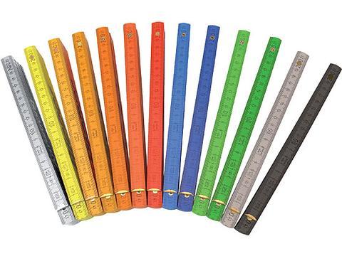 Wooden folding rule colour
